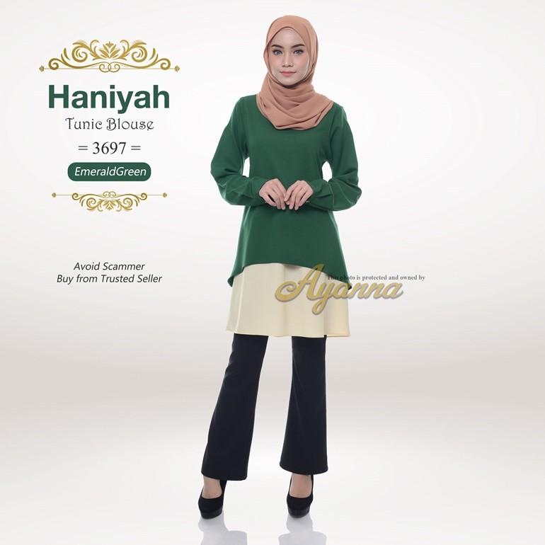 Haniyah Tunic Blouse 3697 (EmeraldGreen)