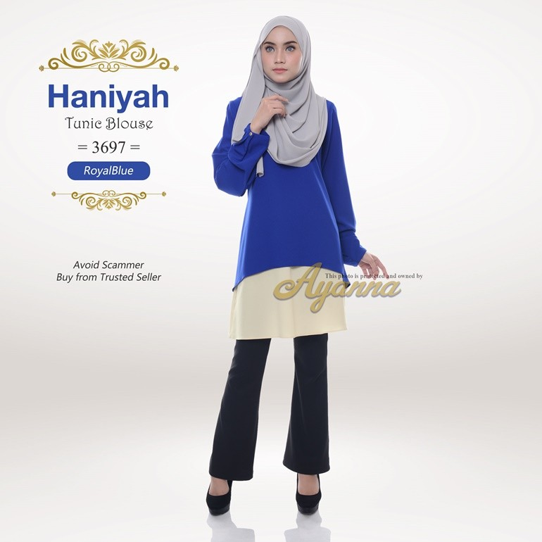 Haniyah Tunic Blouse 3697 (RoyalBlue)