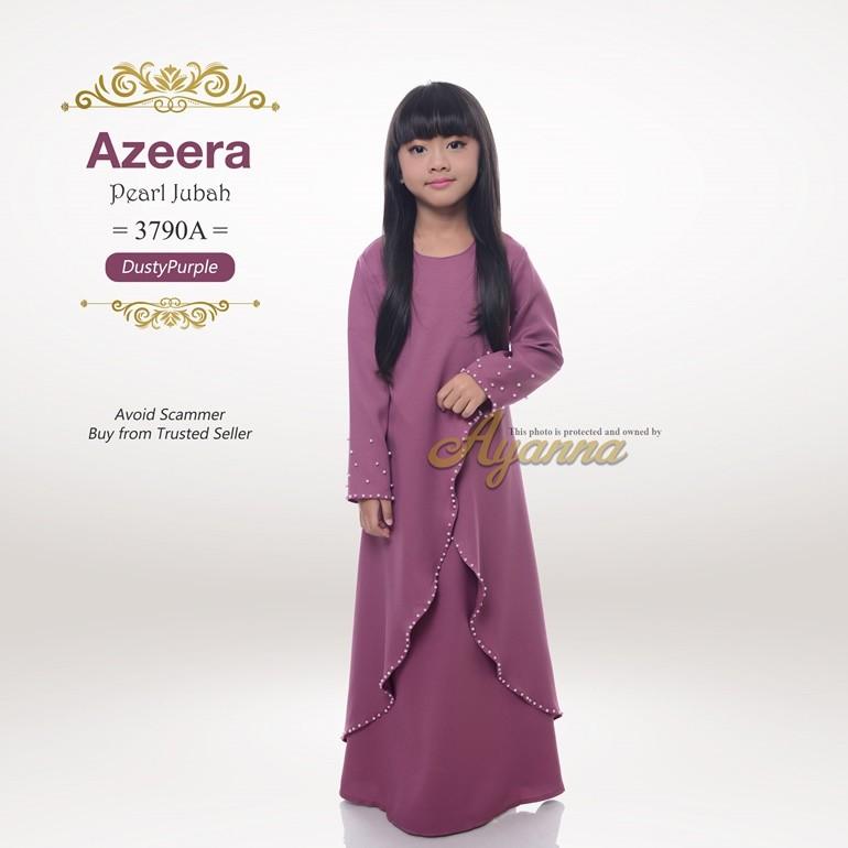 Azeera Pearl Jubah 3790A (DustyPurple)