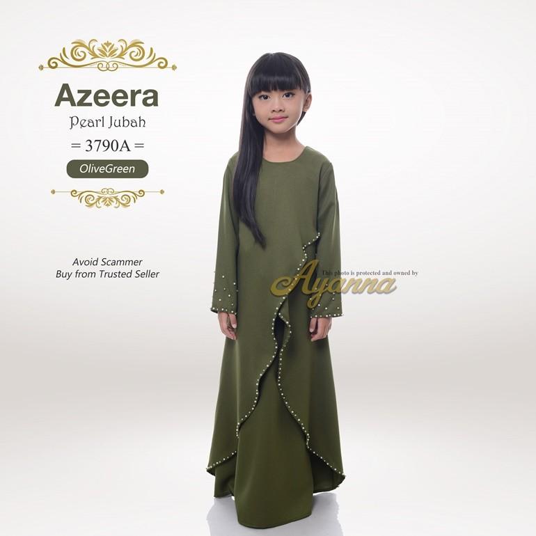 Azeera Pearl Jubah 3790A (OliveGreen)