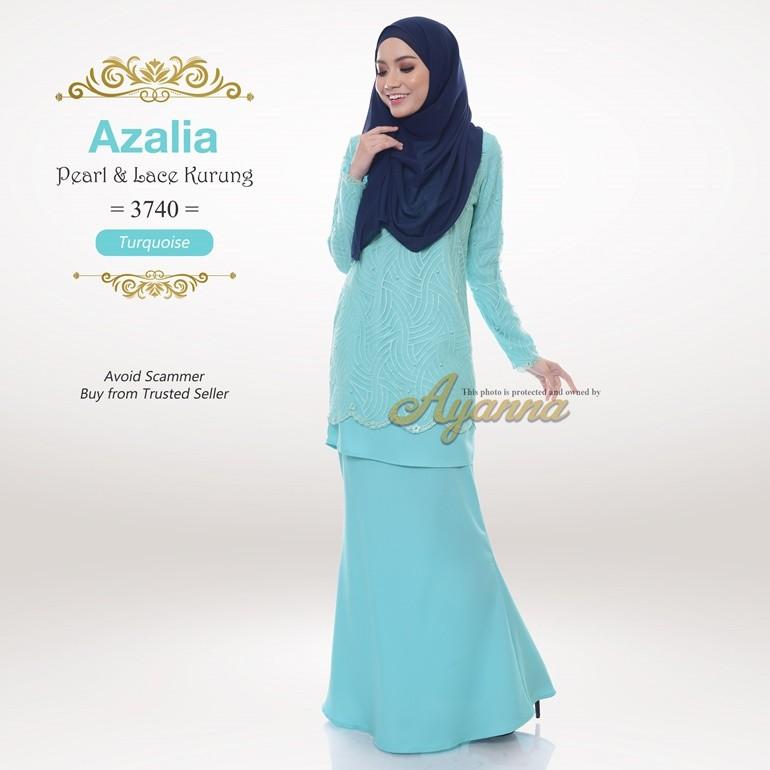 Azalia Pearl & Lace Kurung 3740 (Turquoise)