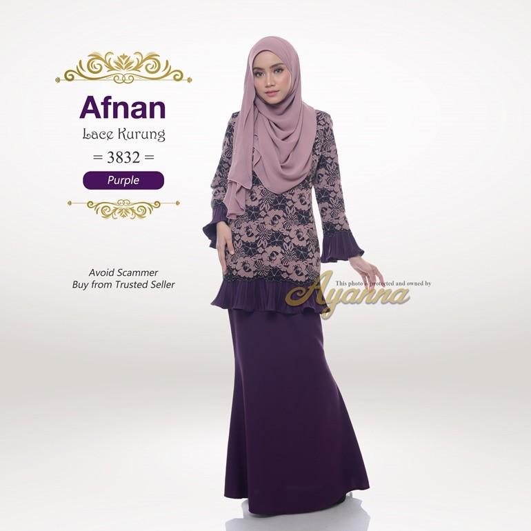 Afnan Lace Kurung 3832 (Purple)