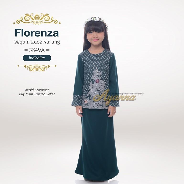 Florenza Sequin Lace Kurung 3849A (Indicolite)