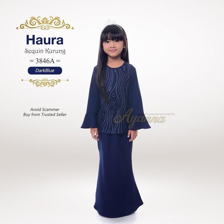 Haura Sequin Kurung 3846A (DarkBlue)