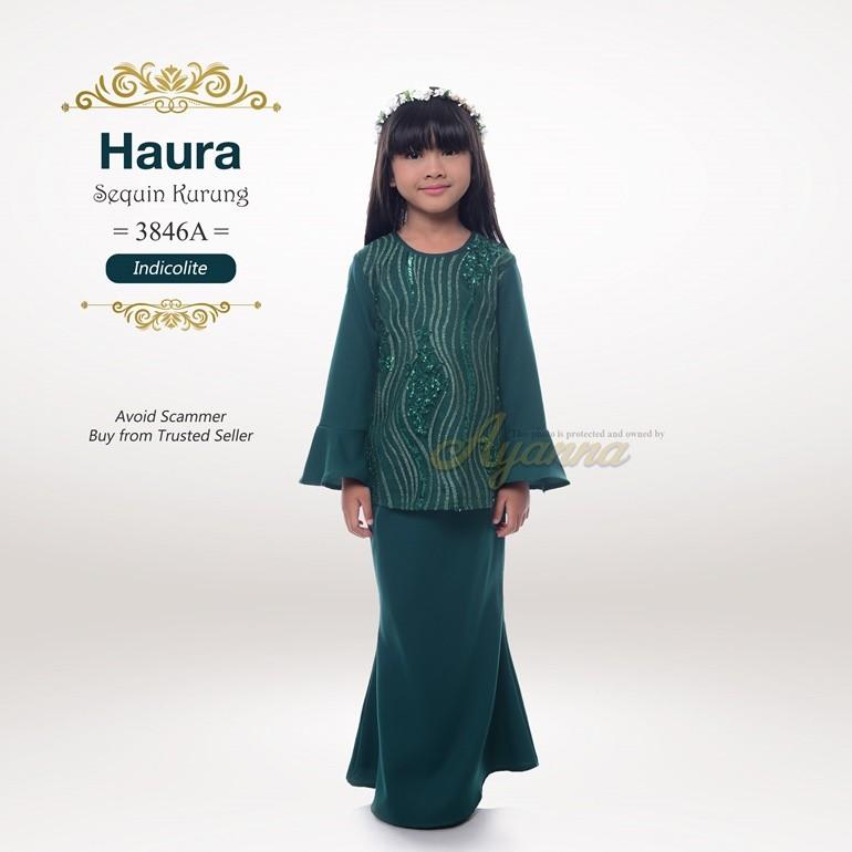 Haura Sequin Kurung 3846A (Indicolite)