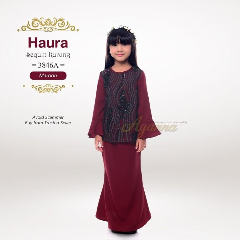 Haura Sequin Kurung 3846A (Maroon)