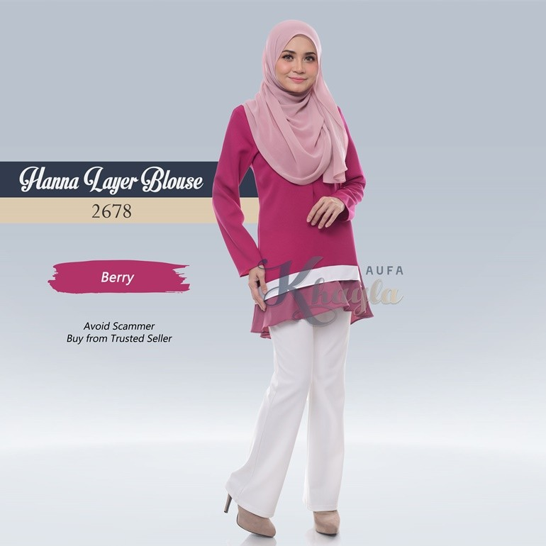 Hanna Layer Blouse 2678 (Berry)