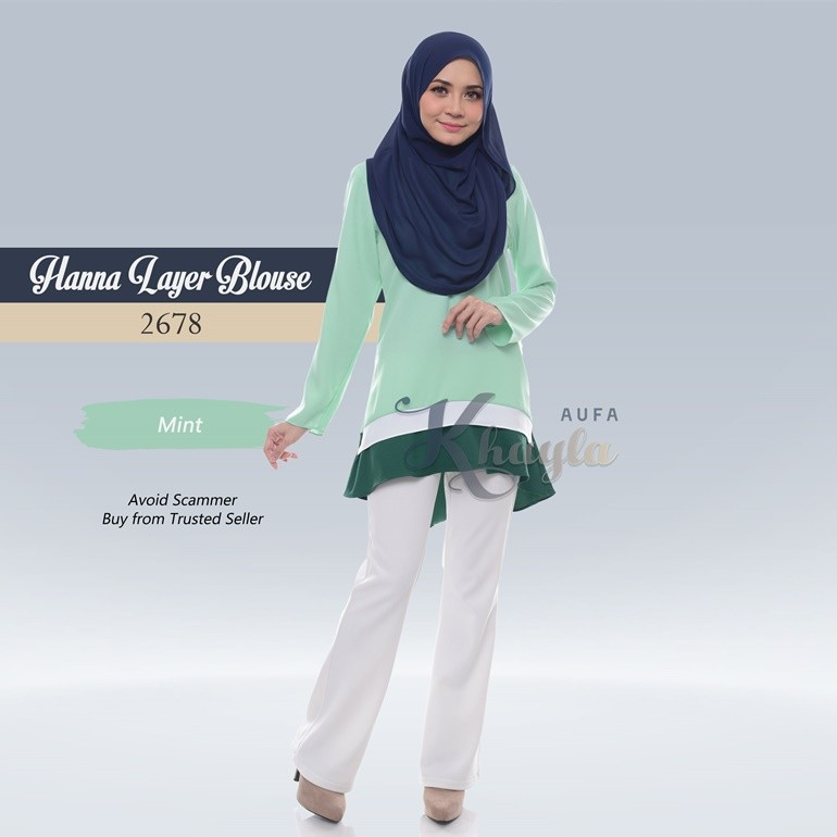 Hanna Layer Blouse 2678 (Mint)
