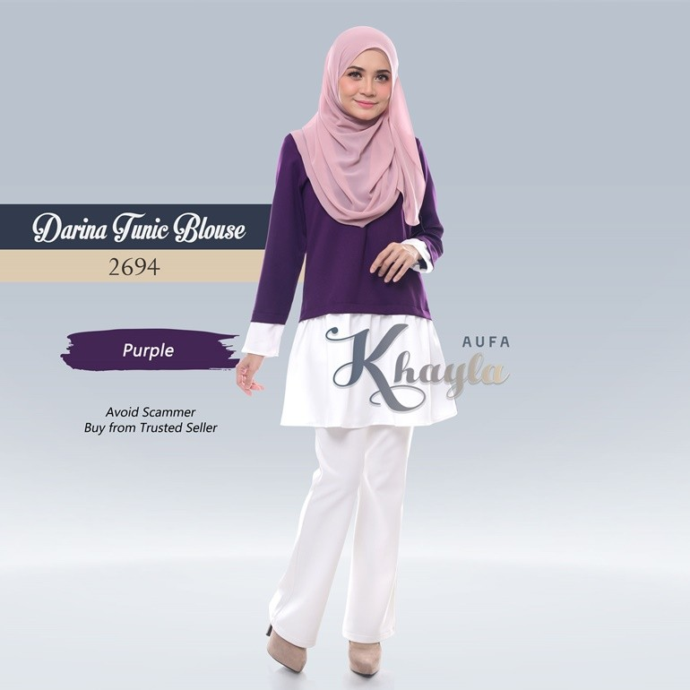 Darina Tunic Blouse 2694 (Purple)