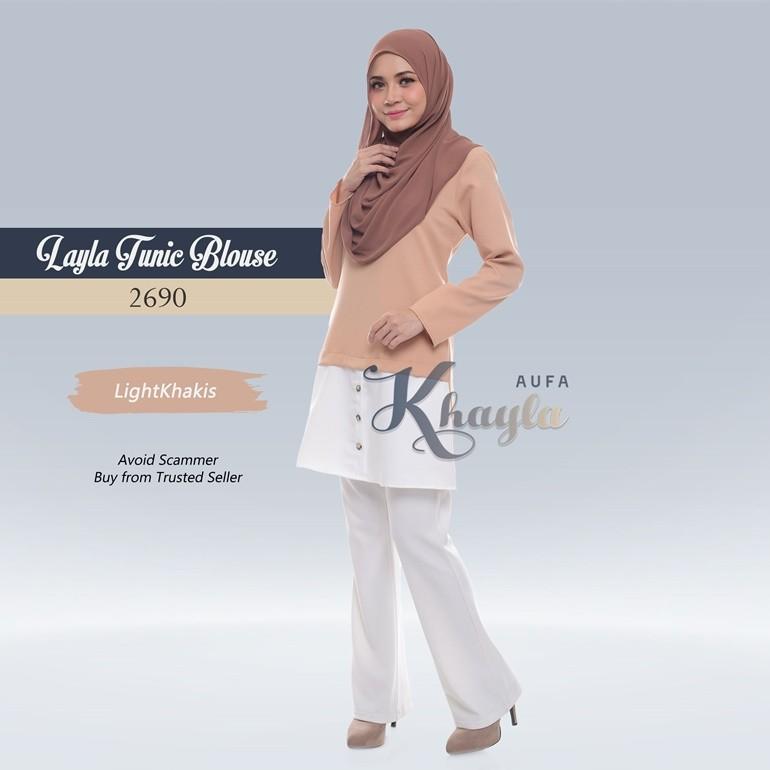Layla Tunic Blouse 2690 (LightKhakis)