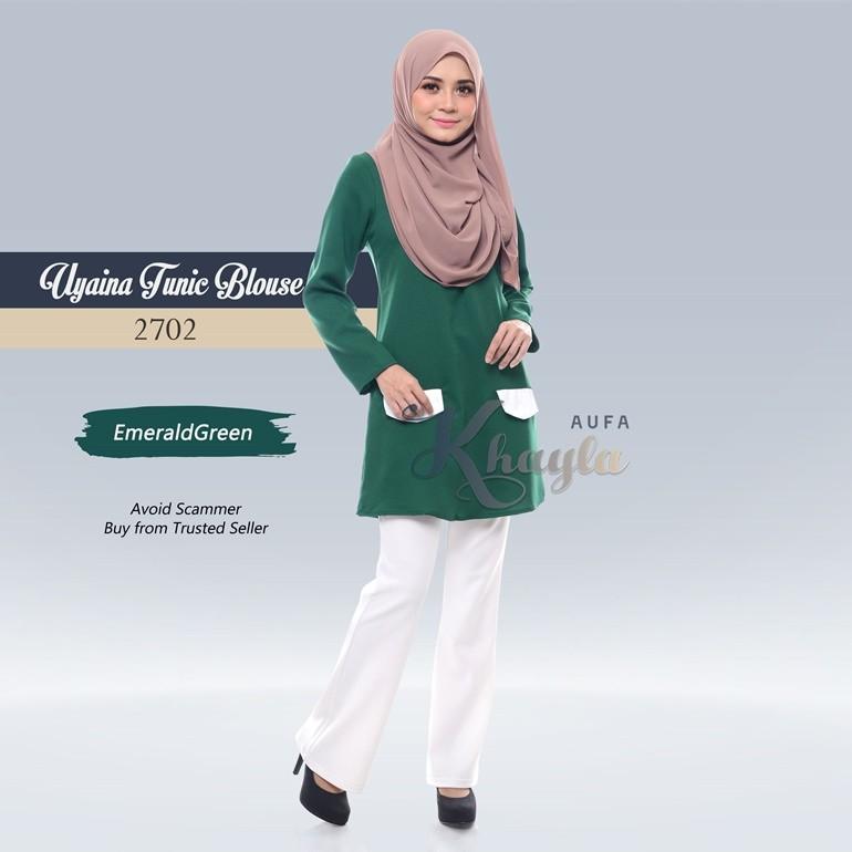 Uyaina Tunic Blouse 2702 (EmeraldGreen)