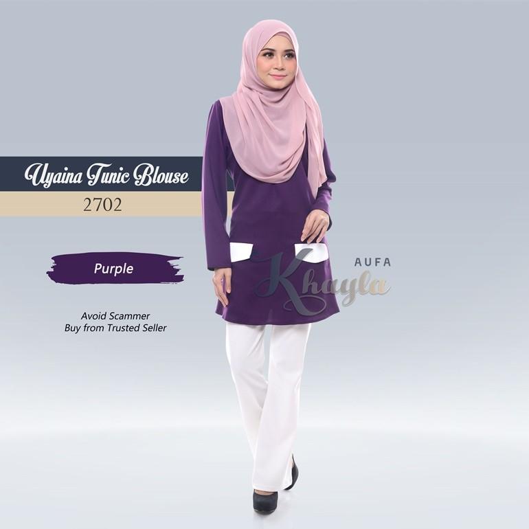 Uyaina Tunic Blouse 2702 (Purple)