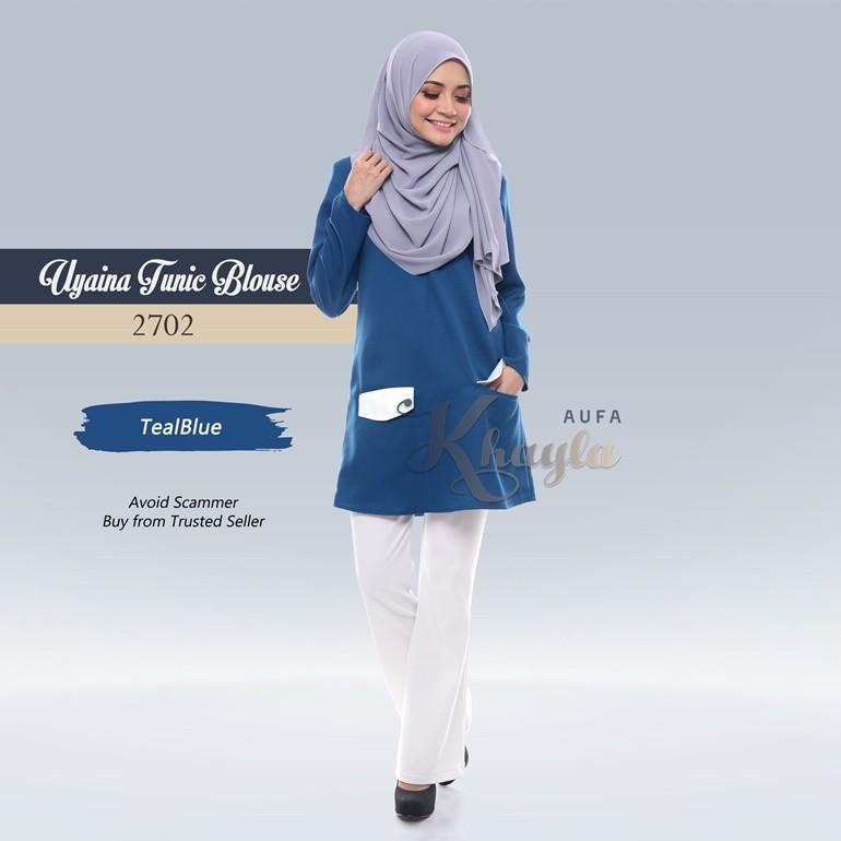 Uyaina Tunic Blouse 2702 (TealBlue)