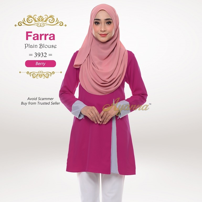 Farra Plain Blouse 3932 (Berry)