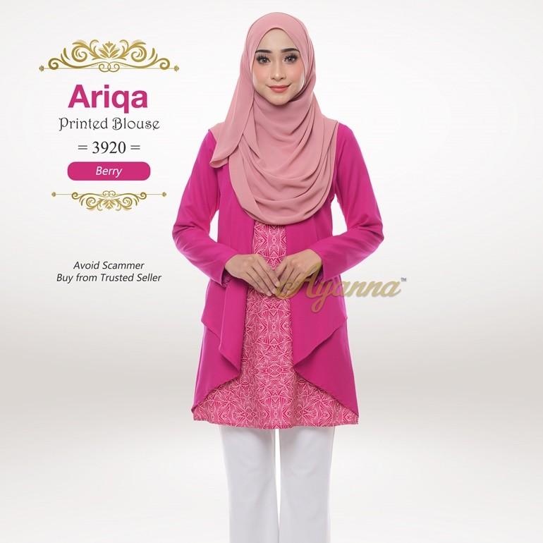 Ariqa Printed Blouse 3920 (Berry)