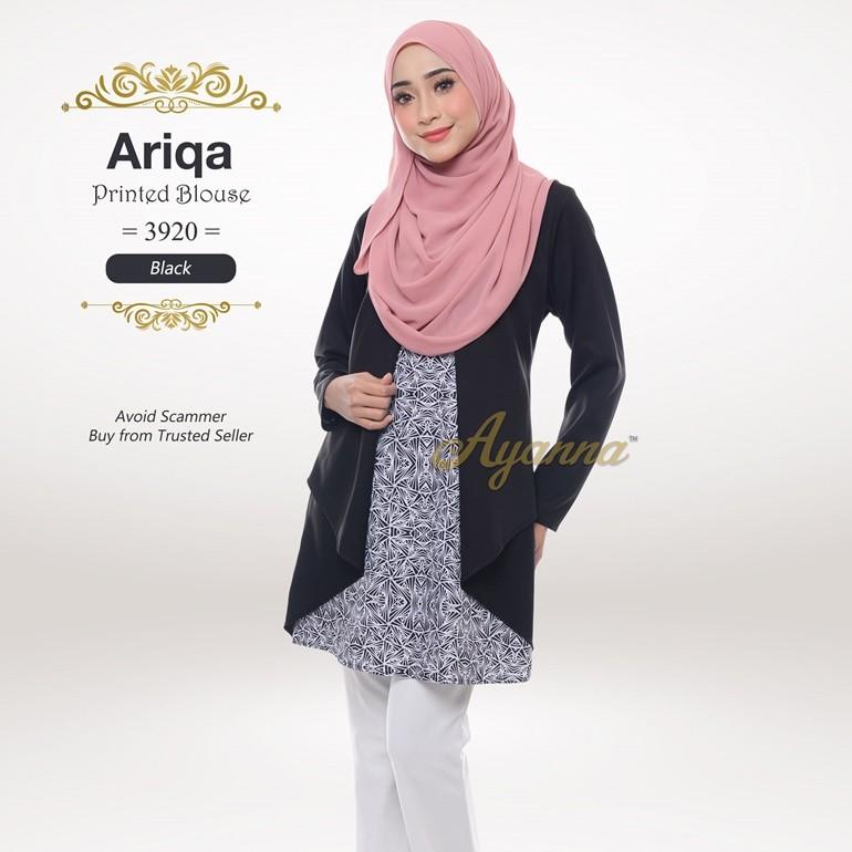 Ariqa Printed Blouse 3920 (Black)