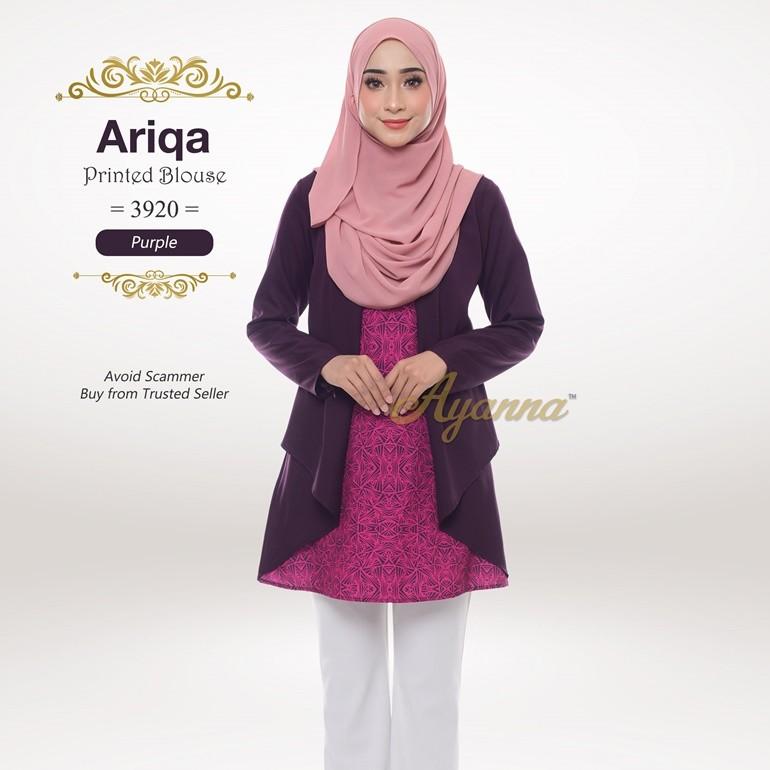 Ariqa Printed Blouse 3920 (Purple)