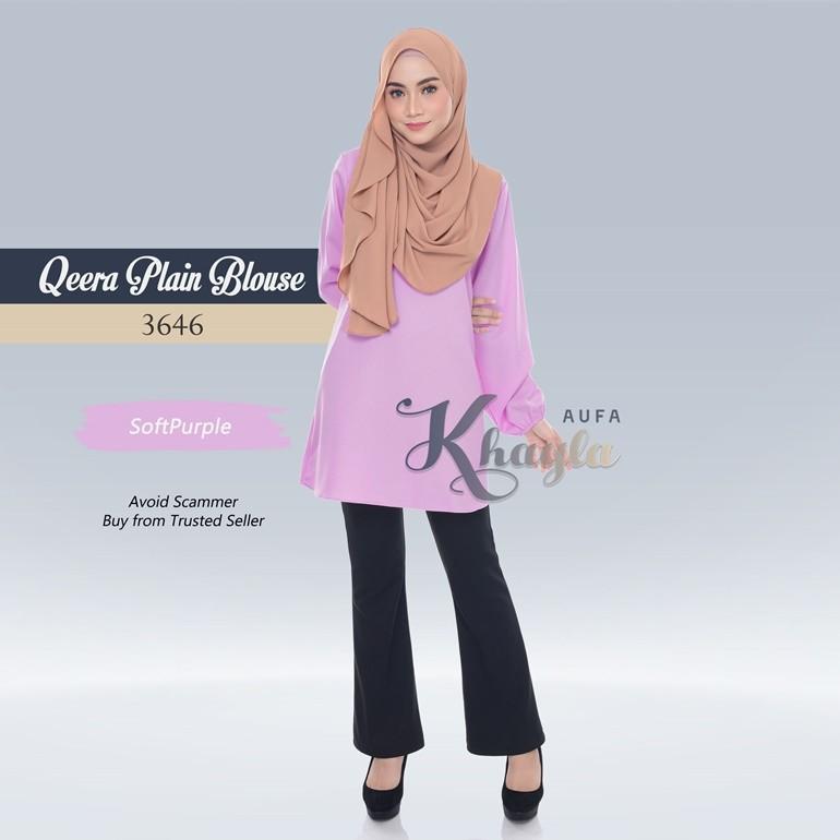 Qeera Plain Blouse 3646 (SoftPurple)