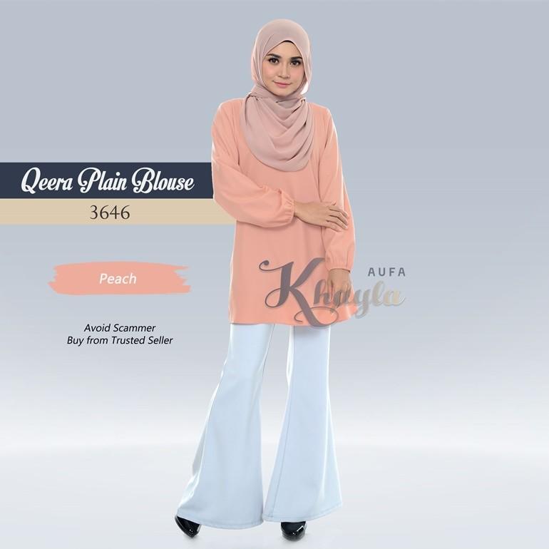 Qeera Plain Blouse 3646 (Peach)