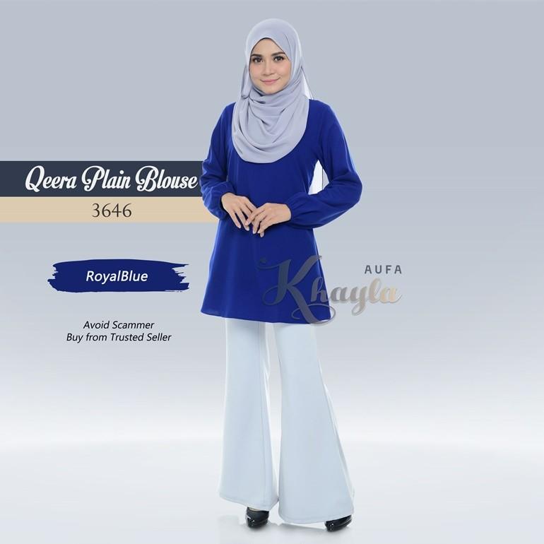 Qeera Plain Blouse 3646 (RoyalBlue)