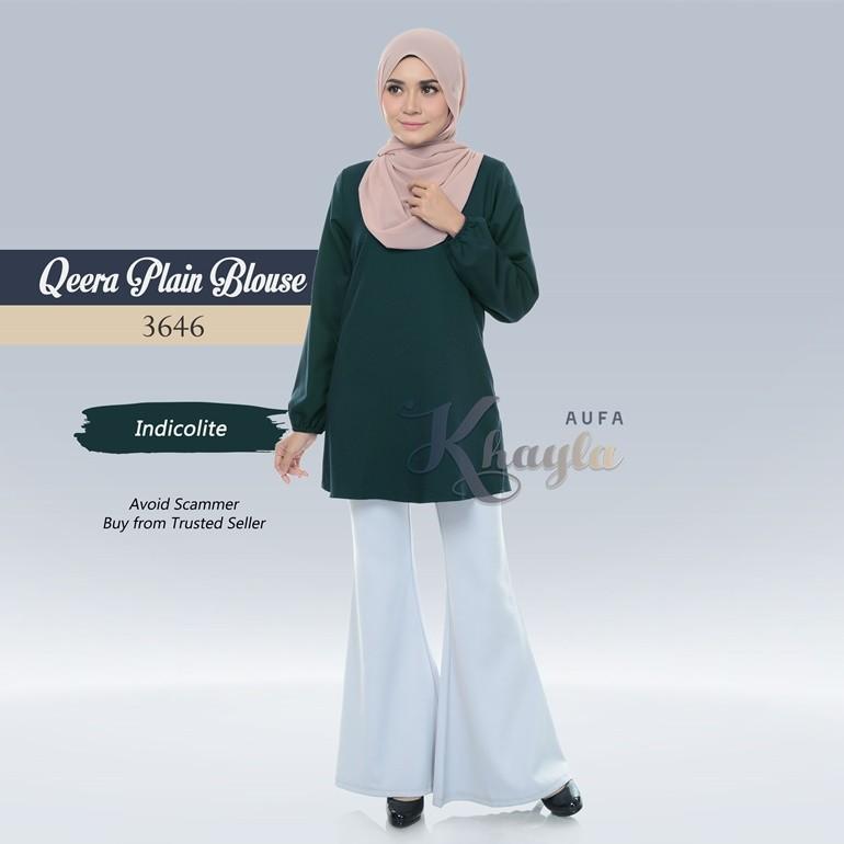Qeera Plain Blouse 3646 (Indicolite)