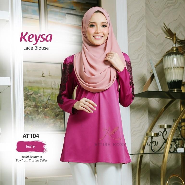 Keysa Lace Blouse AT104 (Berry)