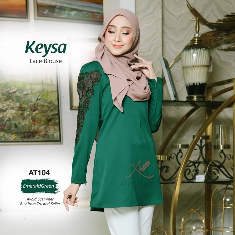 Keysa Lace Blouse AT104 (EmeraldGreen)
