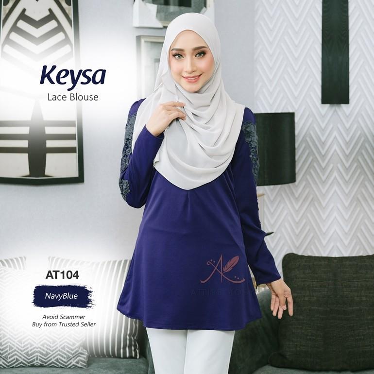 Keysa Lace Blouse AT104 (NavyBlue)