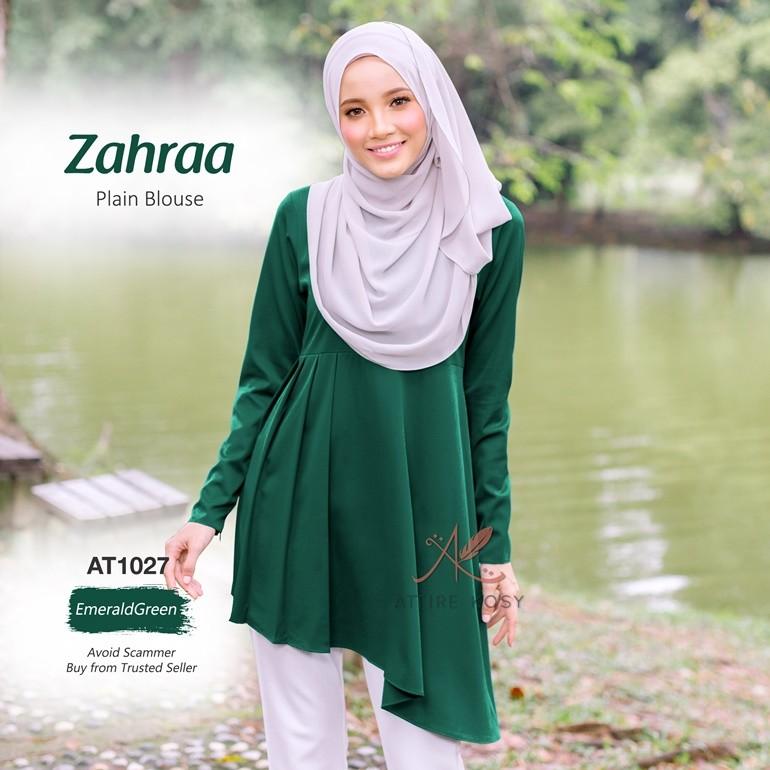 Zahraa Plain Blouse AT1027 (EmeraldGreen)