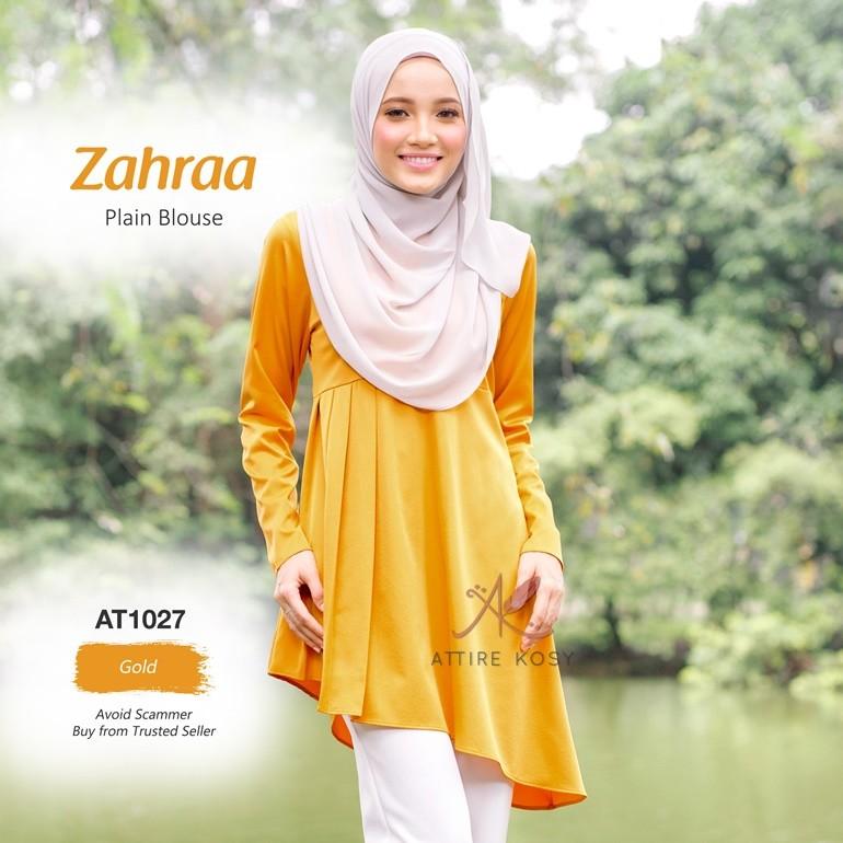 Zahraa Plain Blouse AT1027 (Gold)