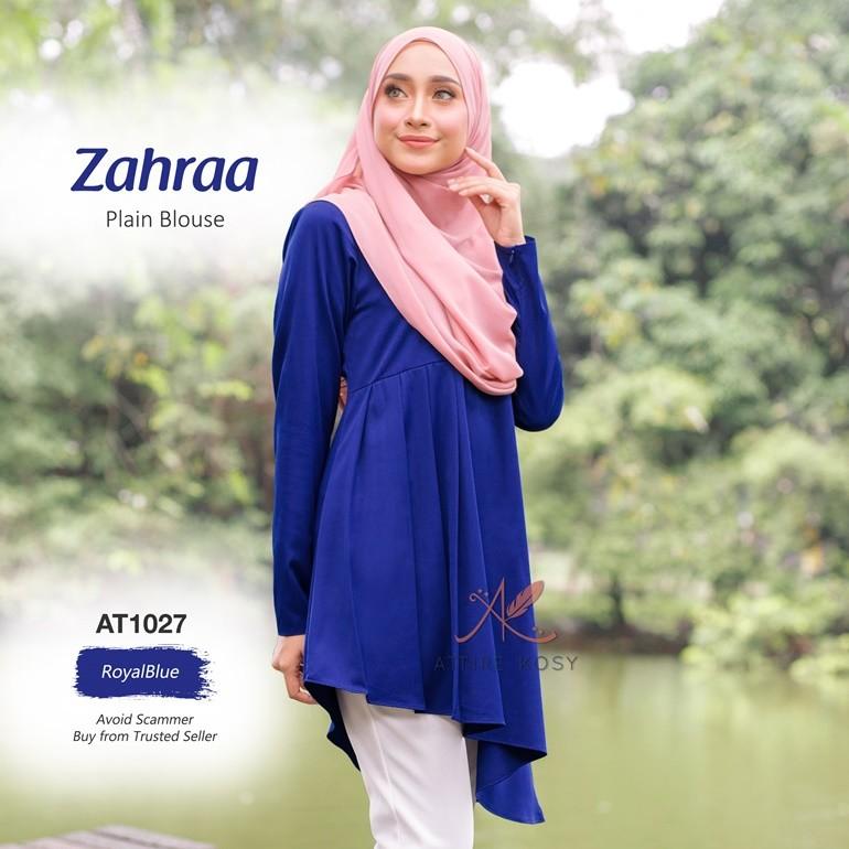 Zahraa Plain Blouse AT1027 (RoyalBlue)