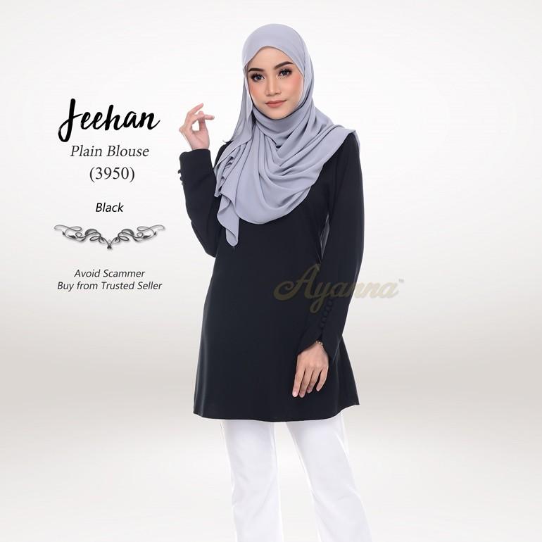 Jeehan Plain Blouse 3950 (Black)
