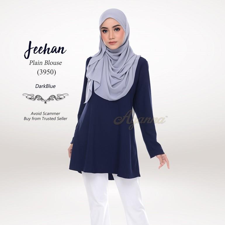 Jeehan Plain Blouse 3950 (DarkBlue)