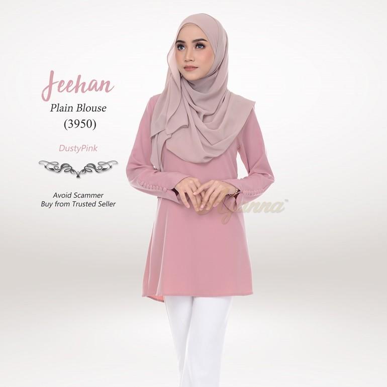 Jeehan Plain Blouse 3950 (DustyPink)