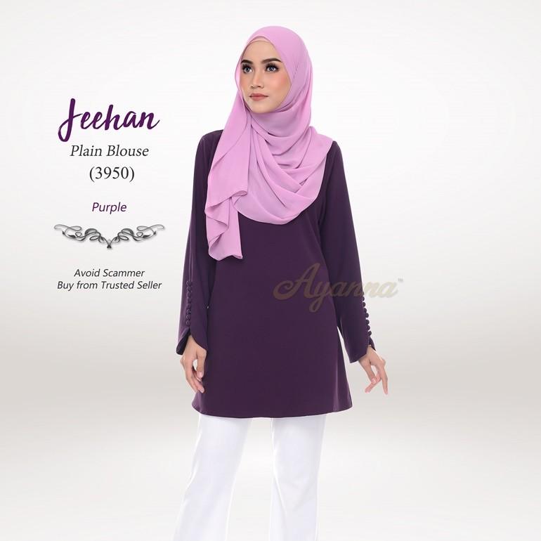 Jeehan Plain Blouse 3950 (Purple)
