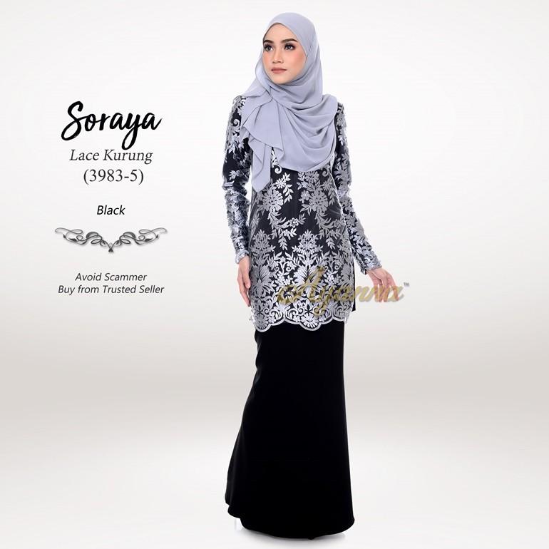 Soraya Lace Kurung 3983-5 (Black)