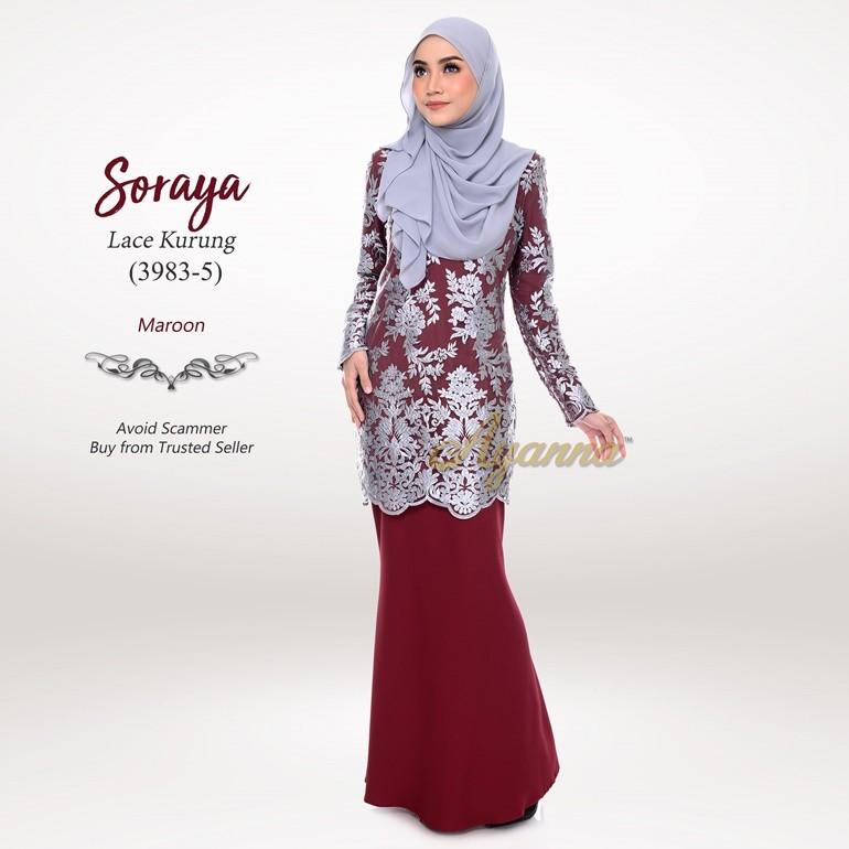 Soraya Lace Kurung 3983-5 (Maroon)