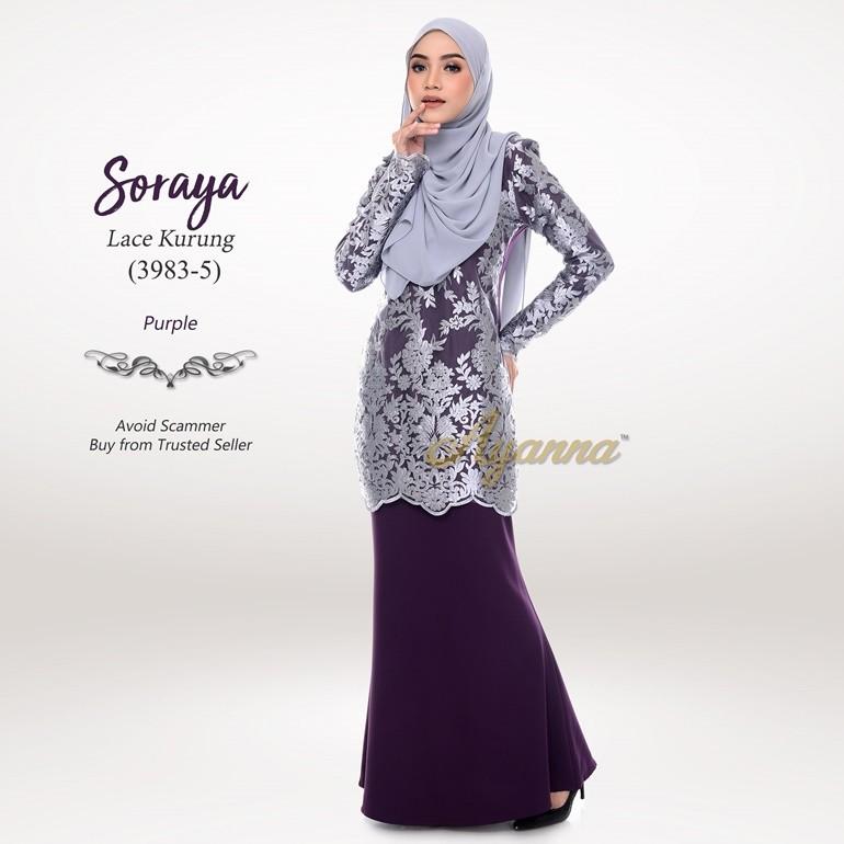 Soraya Lace Kurung 3983-5 (Purple)