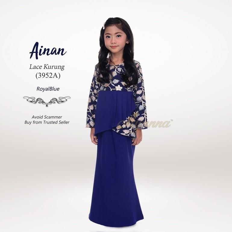 Ainan Lace Kurung 3952A (RoyalBlue)
