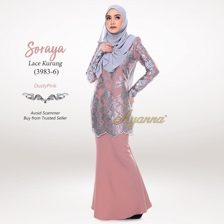 Soraya Lace Kurung 3983-6 (DustyPink)