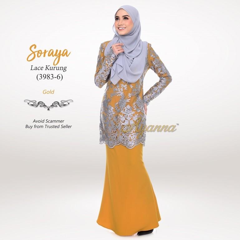 Soraya Lace Kurung 3983-6 (Gold)