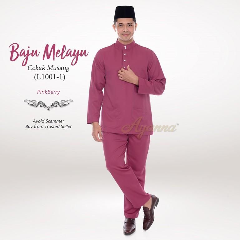 Baju Melayu Cekak Musang L1001-1 (PinkBerry)