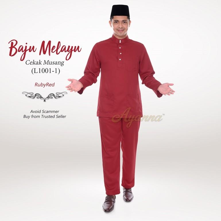 Baju Melayu Cekak Musang L1001-1 (RubyRed)