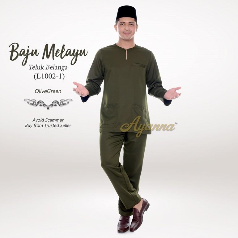 Baju Melayu Teluk Belanga L1002-1 (OliveGreen)