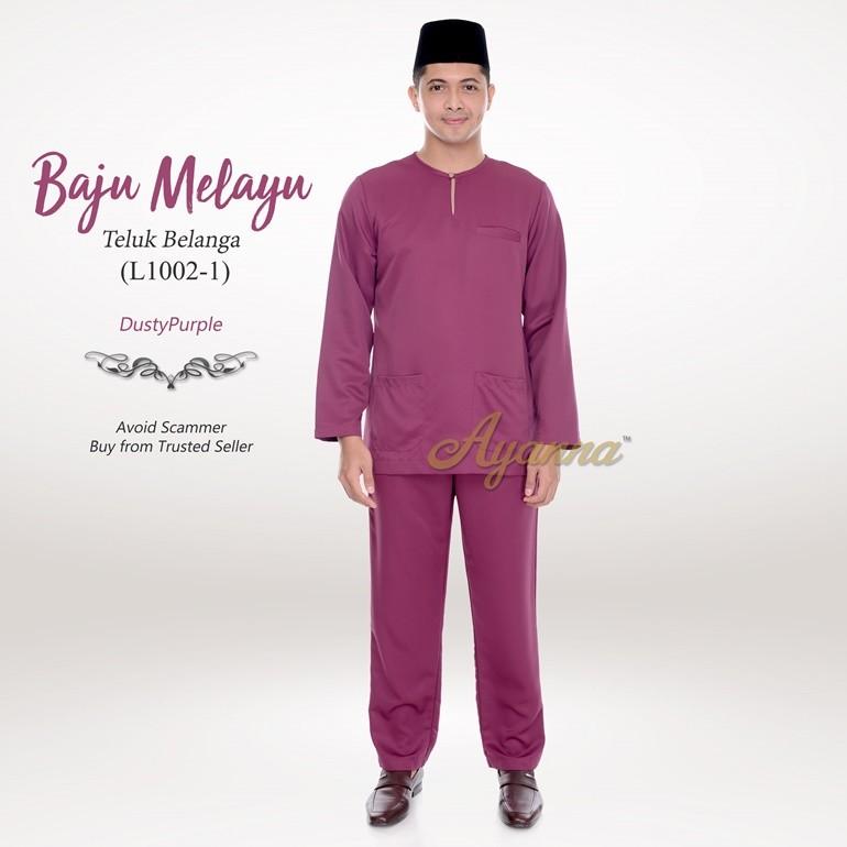 Baju Melayu Teluk Belanga L1002-1 (DustyPurple)