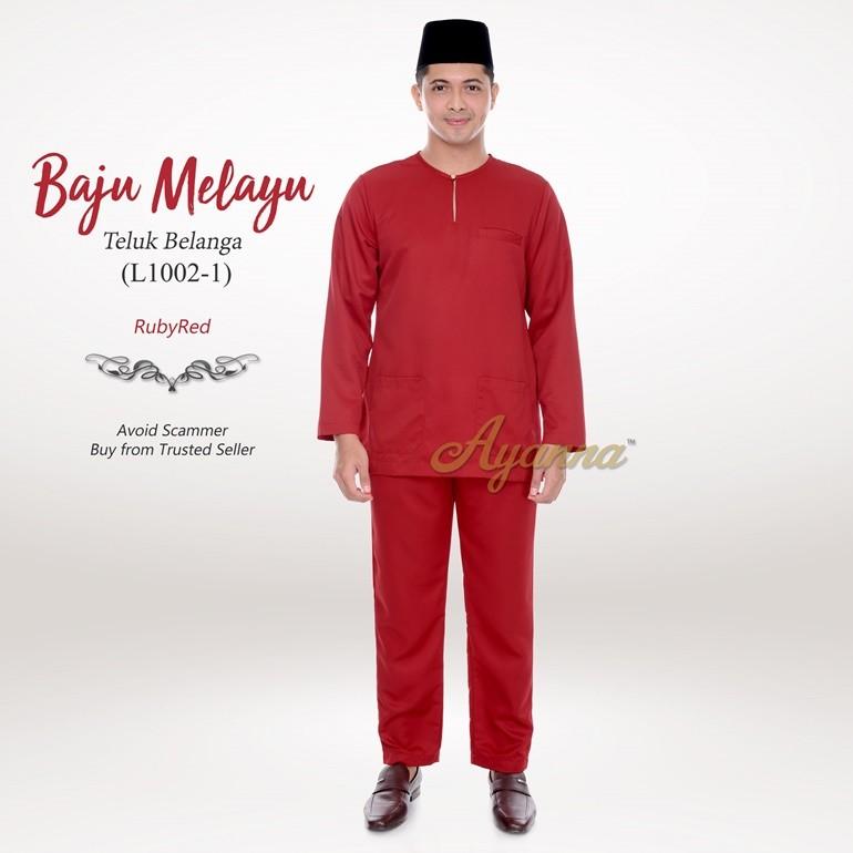 Baju Melayu Teluk Belanga L1002-1 (RubyRed)