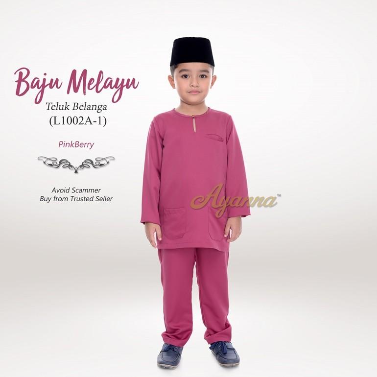 Baju Melayu Teluk Belanga L1002A-1 (PinkBerry)