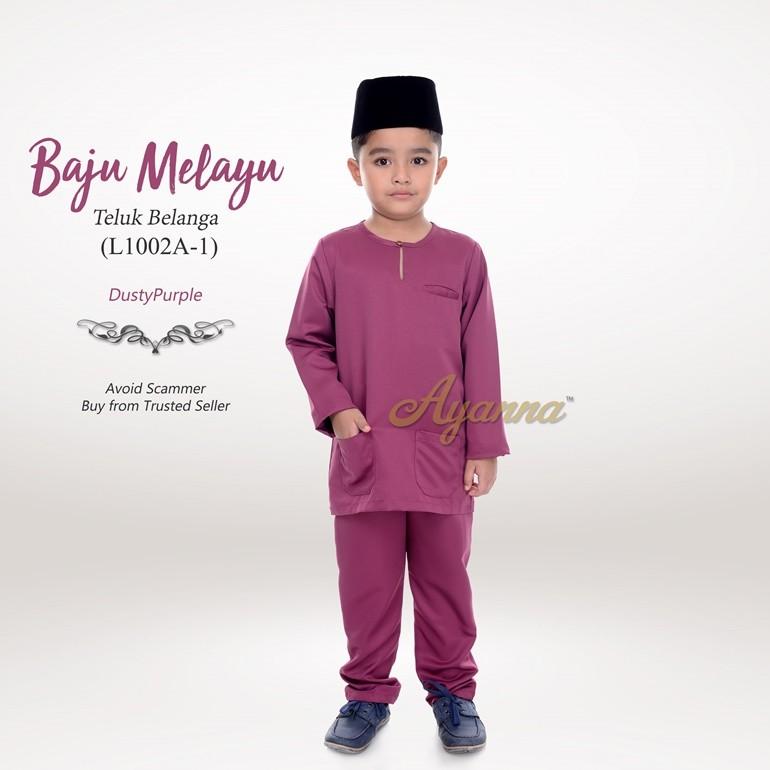 Baju Melayu Teluk Belanga L1002A-1 (DustyPurple)