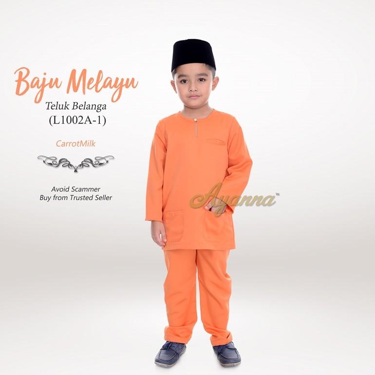 Baju Melayu Teluk Belanga L1002A-1 (CarrotMilk)