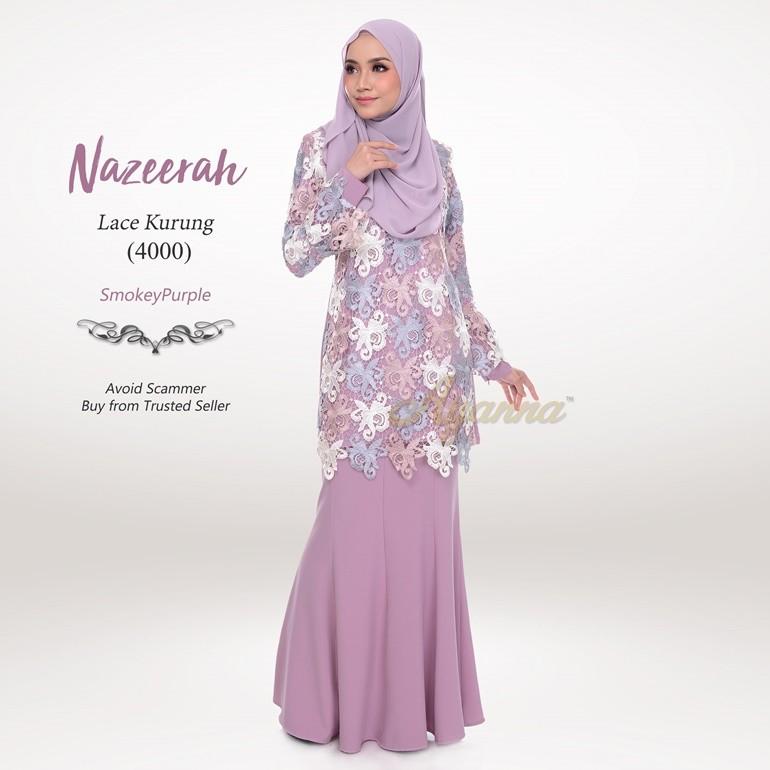 Nazeerah Lace Kurung 4000 (SmokeyPurple)